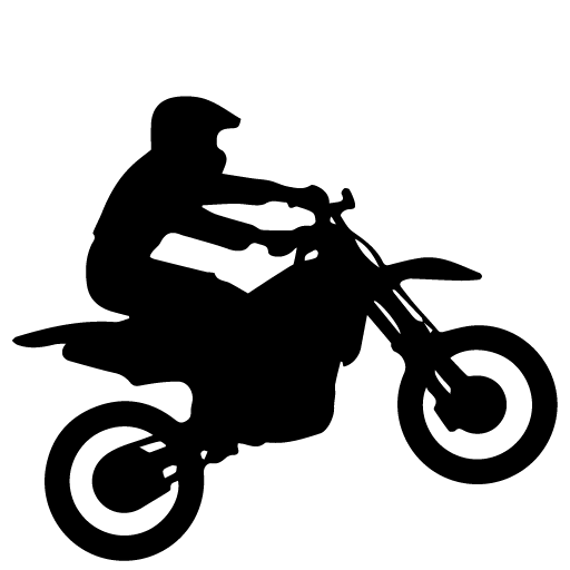 picture royalty free Dirt Bike Rider Silhouette at GetDrawings