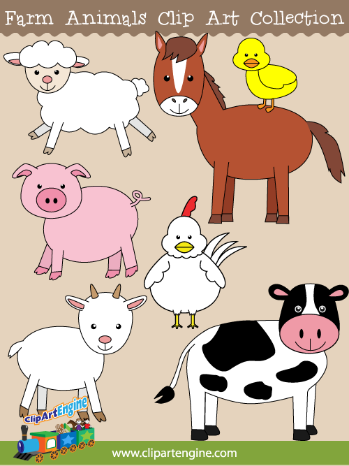 graphic transparent stock Animals clip art collection. Free farm animal clipart for teachers