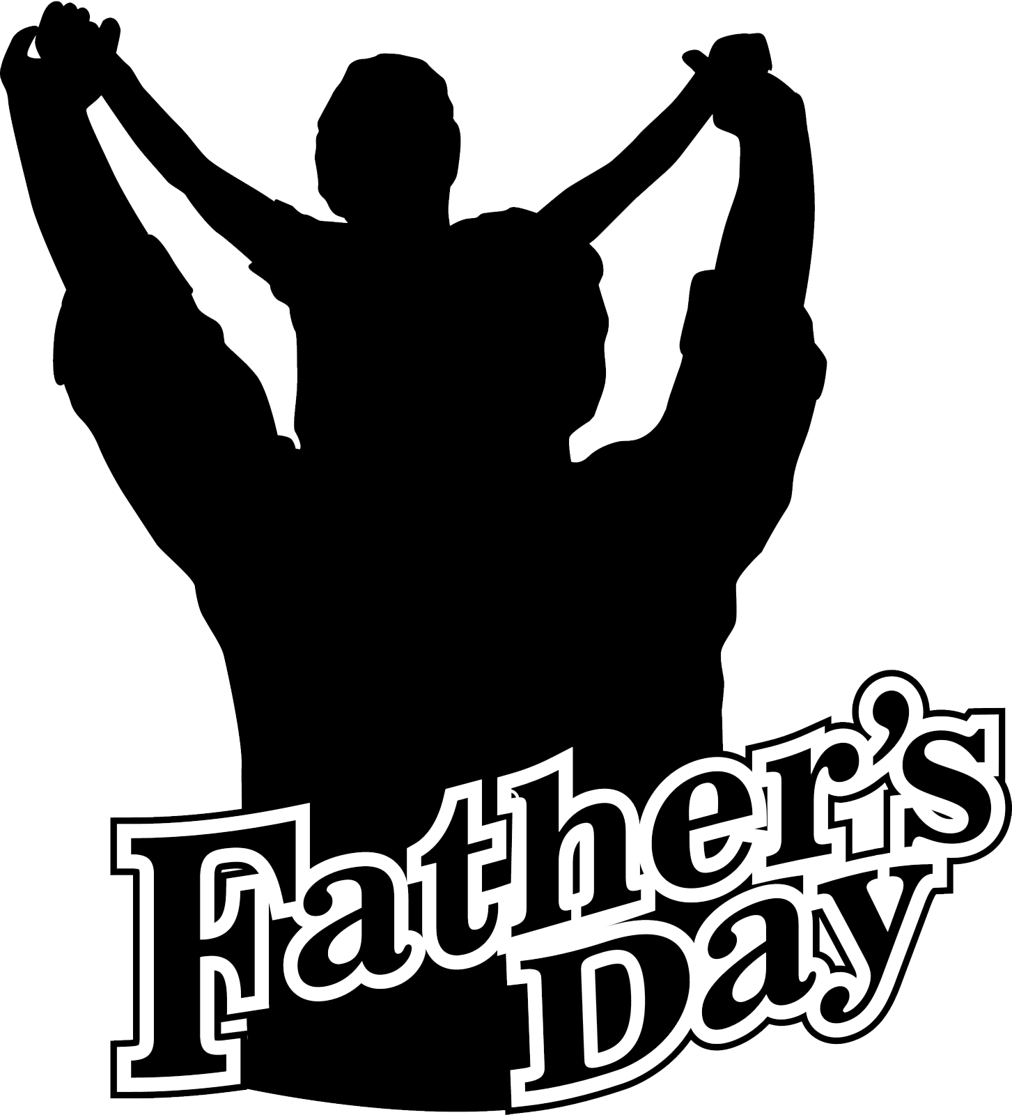image black and white Fathers Day HD PNG Transparent Fathers Day HD