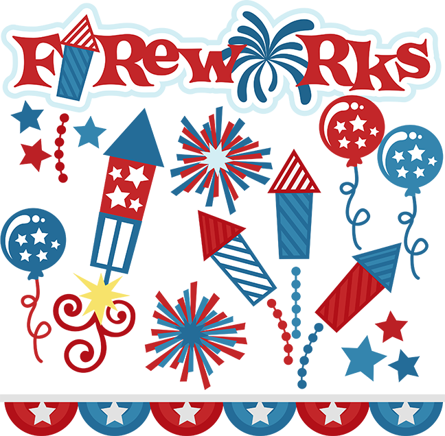 transparent Fireworks cut files for. Usa svg 4th july
