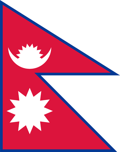 png royalty free Vector flags. Nepal flag clipart country