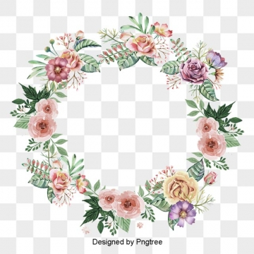 jpg freeuse Vector graphic resources for. Free floral wreath clipart