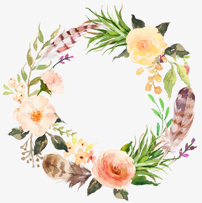 graphic Station . Free floral wreath clipart