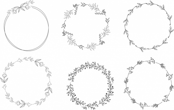 clipart royalty free library Vector download for . Free floral wreath clipart