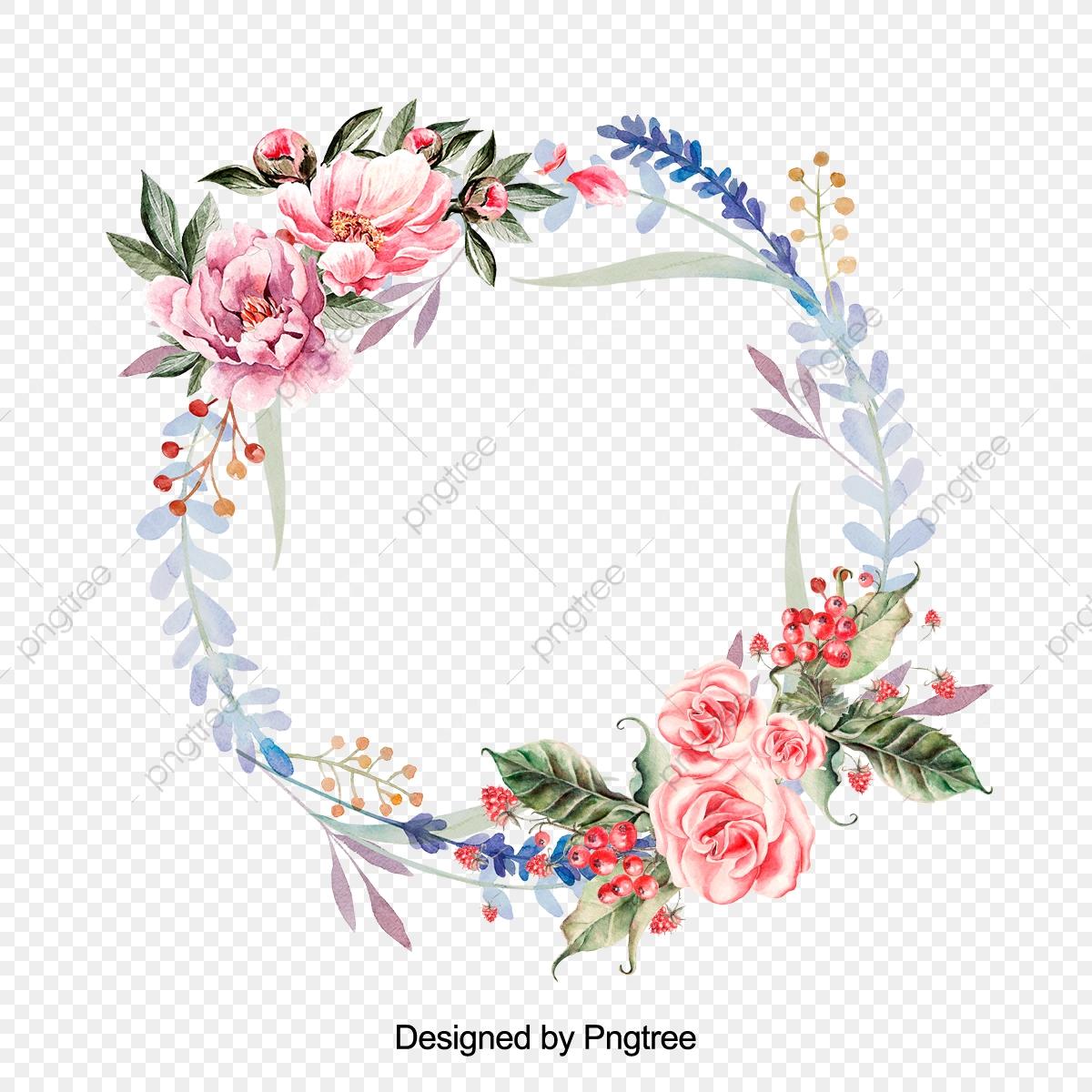 clip transparent download Free floral wreath clipart. Png transparent