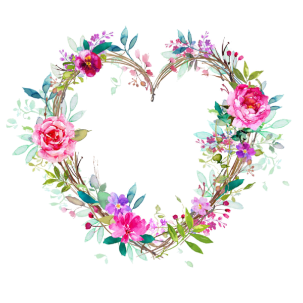 jpg royalty free library Coeur tube png pictures. Free floral wreath clipart