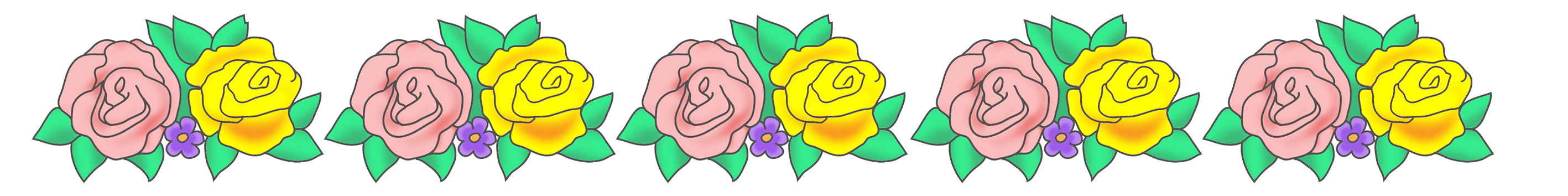 vector freeuse Free flower borders clipart. And frames rose border