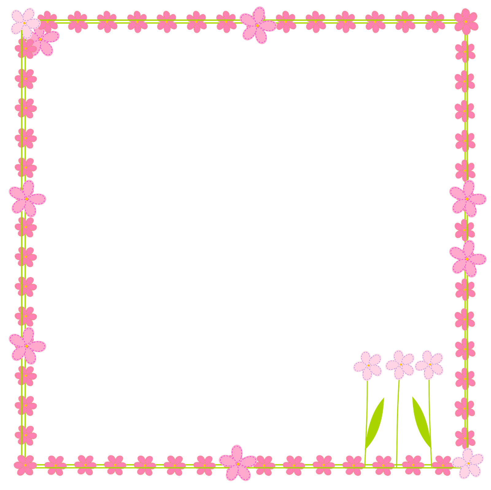 picture free download Digital border scrapbooking elements. Free flower borders clipart