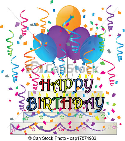 graphic black and white download Free happy birthday clipart graphics. Station