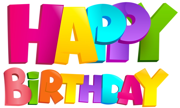 clip art freeuse library Free happy birthday clipart graphics. Colorful transparent png clip