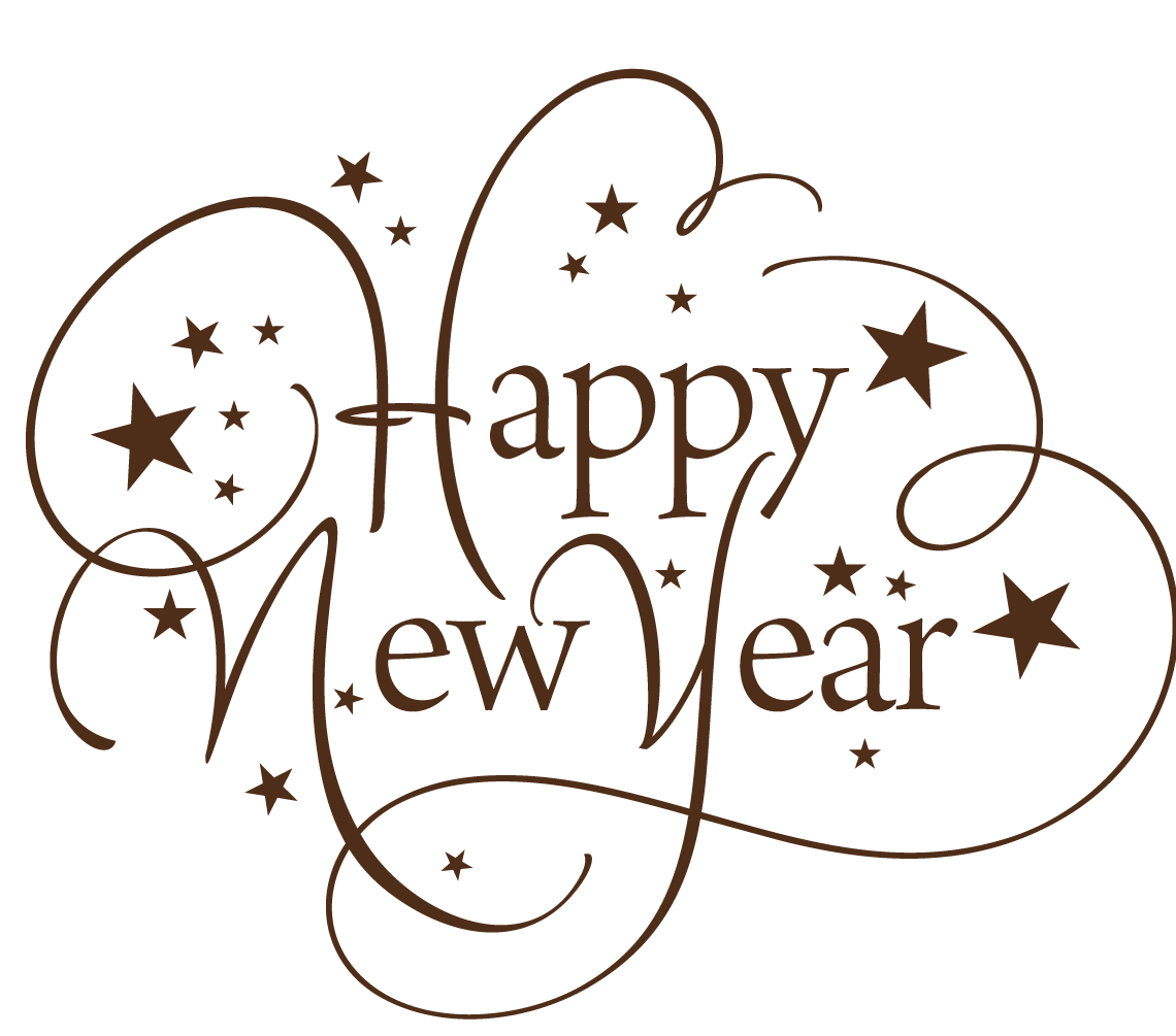 graphic royalty free download Free happy new year clipart. Thin text transparent png