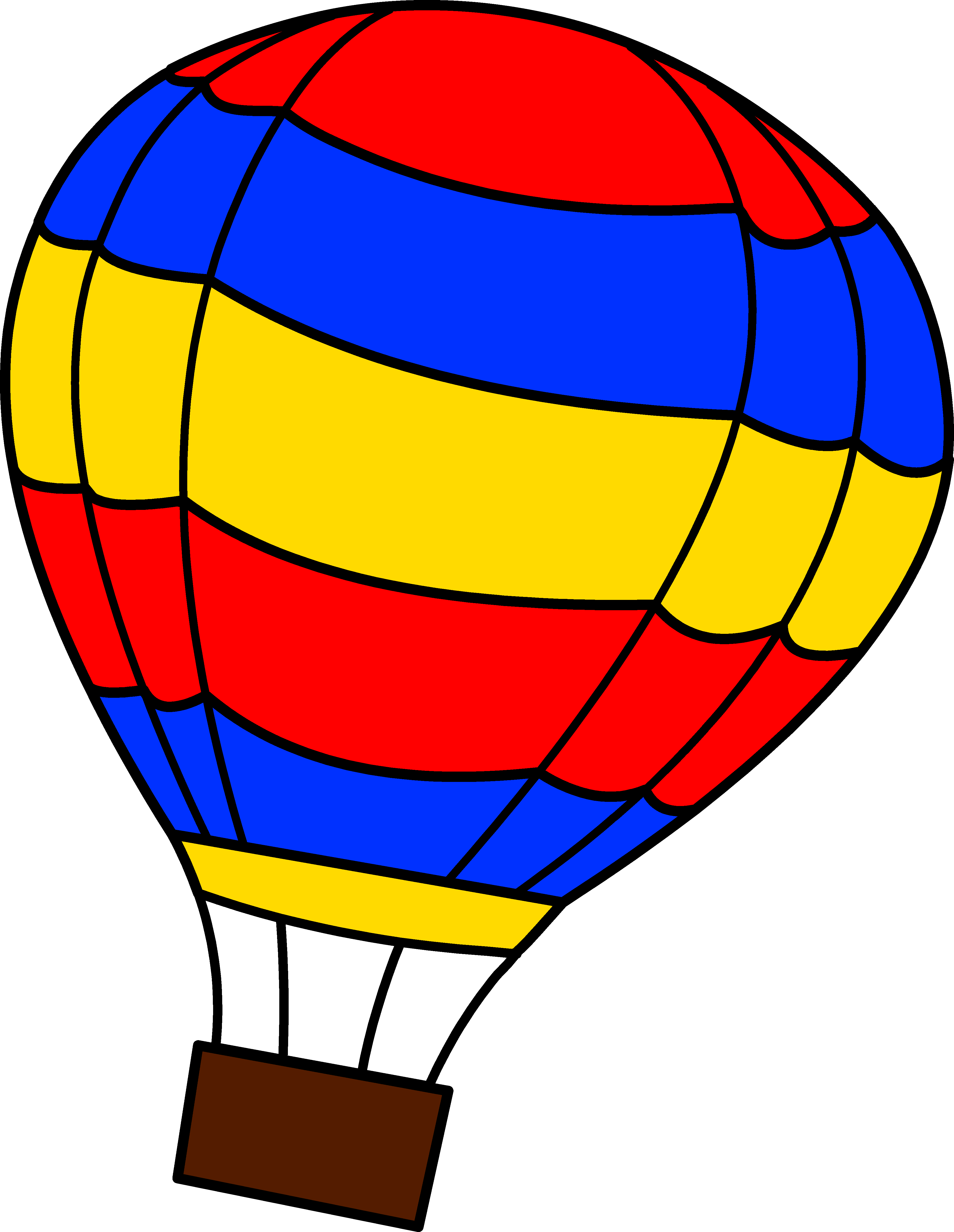 jpg library download Hot Air Balloon Clip Art Outline