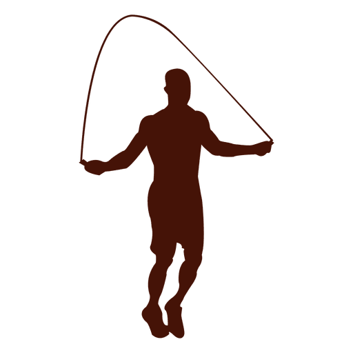 image transparent Jump rope silhouette at. Exercise vector.