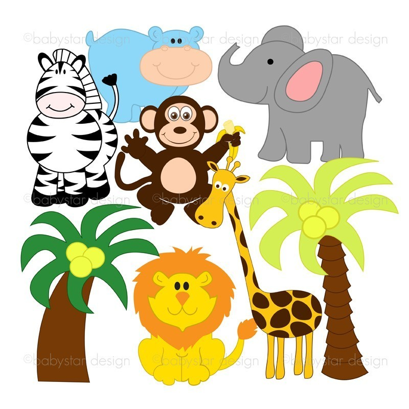 jpg royalty free stock Download clip art . Free jungle animal clipart