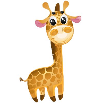 image black and white Free jungle animal clipart. Animated giraffe cute ba