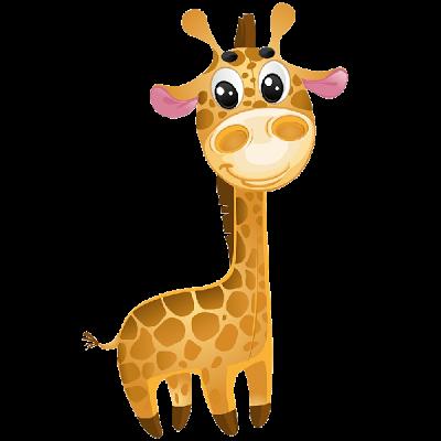 image black and white Free jungle animal clipart. Animated giraffe cute ba.