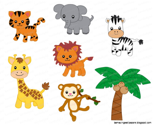 graphic royalty free library Cartoon animals images at. Free jungle animal clipart