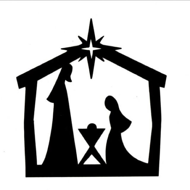 png black and white download Silhouette cliparts download clip. Free manger clipart.