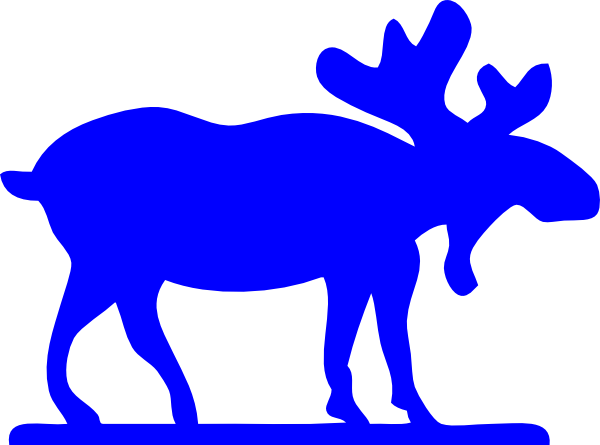 png black and white library Free moose clipart. Blue clip art at.