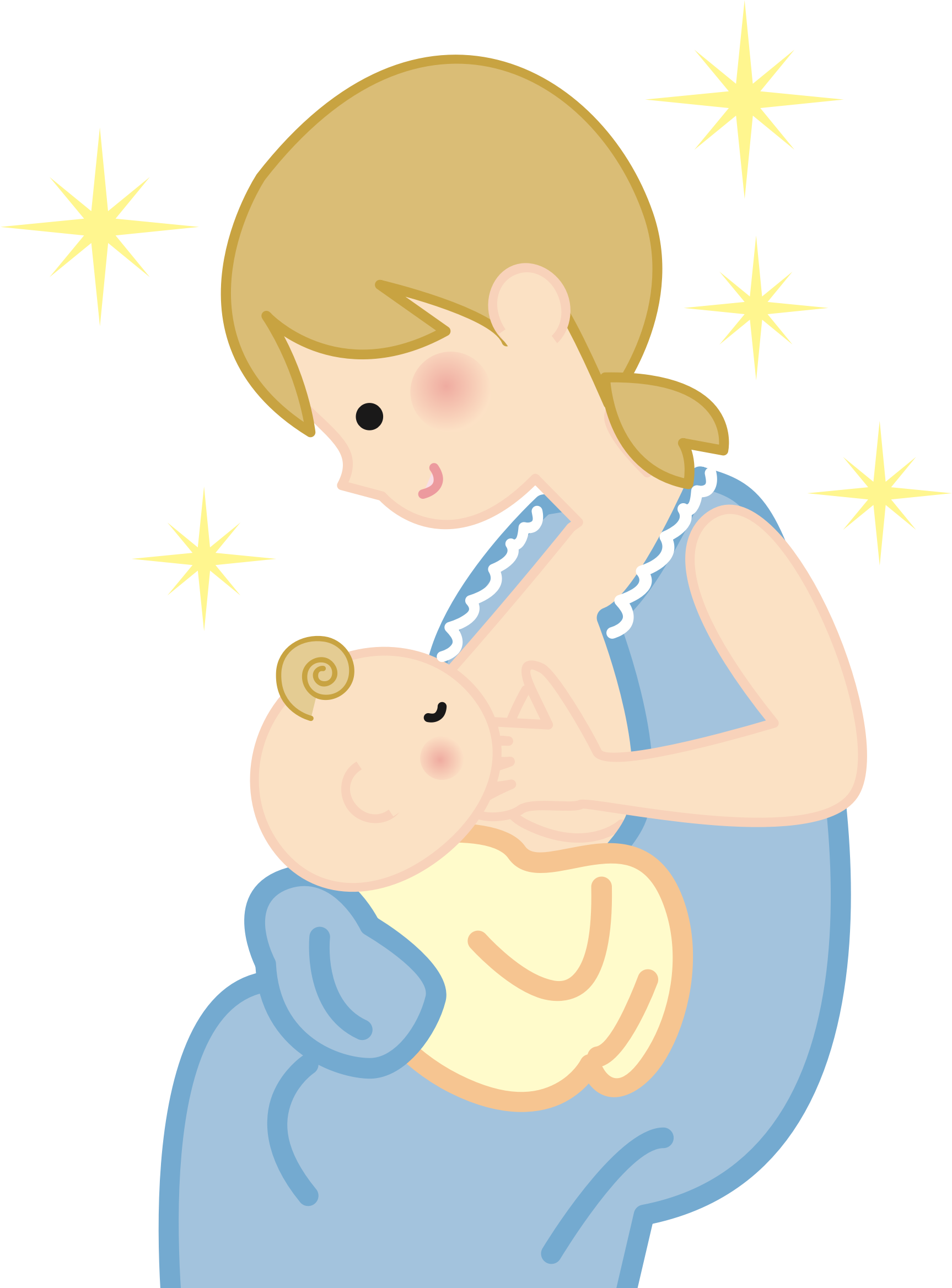 vector black and white library Mothers clipart mummy. Mother and baby free.