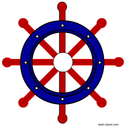 clipart royalty free library Free nautical clip art. Captains wheel clipart.