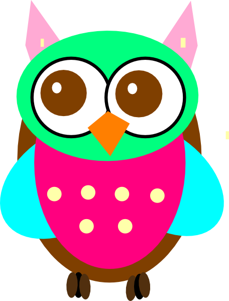 image free library Vector baby owl. Clipart black and white
