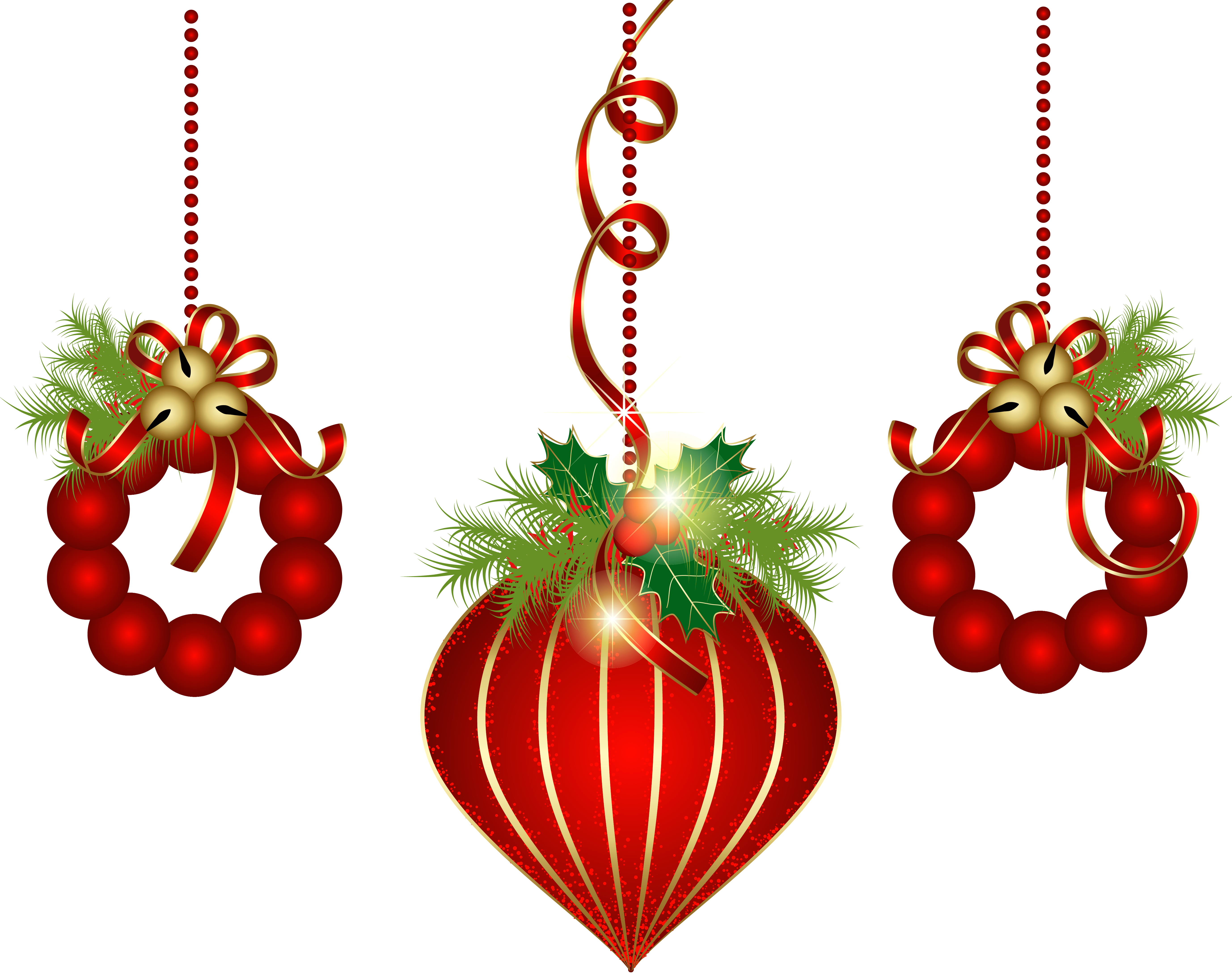 image free library May clipart decoration. Transparent red christmas ornaments.