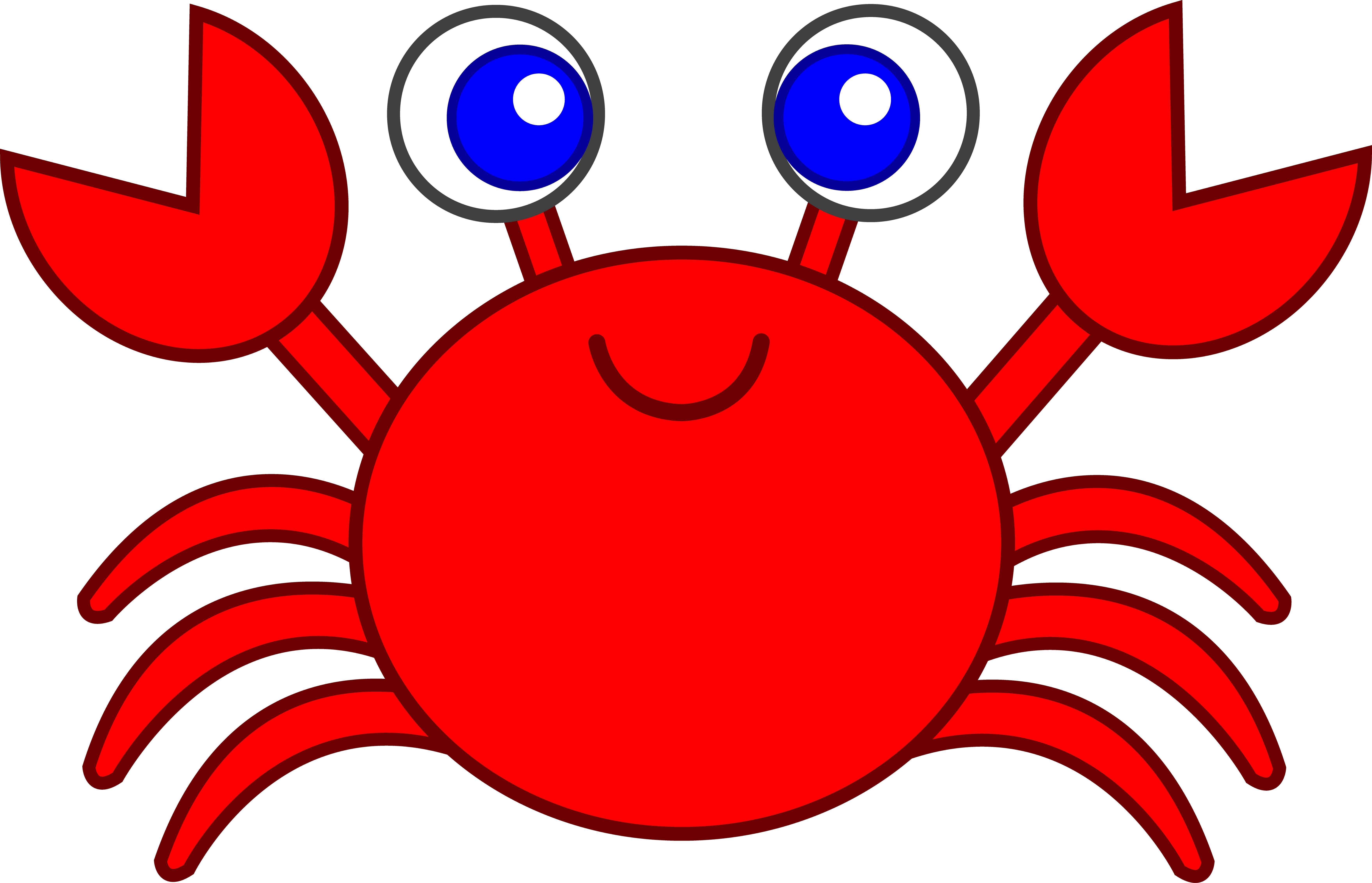 clip royalty free library Crab clipart. Cute red clip art.