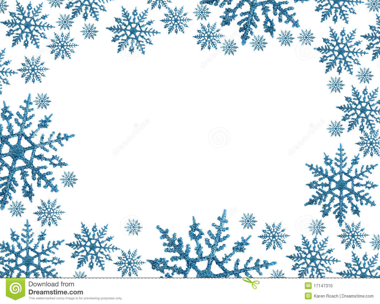vector stock Free snowflake clipart borders.  winter clip art
