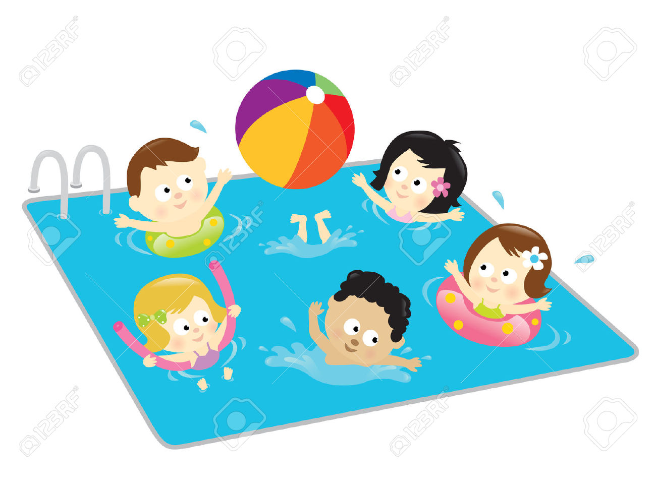 banner download  free clipartlook. Kids swimming clipart