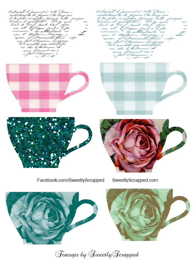 svg transparent stock Free teacup clipart. Sweetly scrapped teacups and