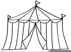 svg black and white stock Free tent clipart. Fair images at clker
