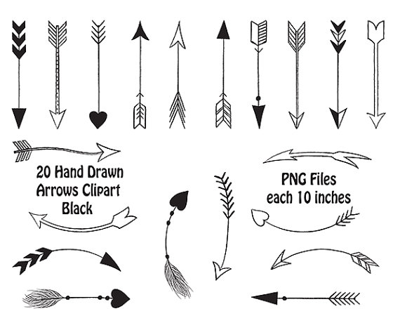 graphic library Black and white download. Free tribal arrow clipart
