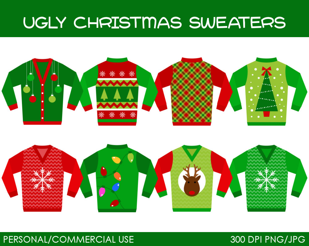 graphic black and white Free ugly sweater clipart. Reindeer cliparts download clip