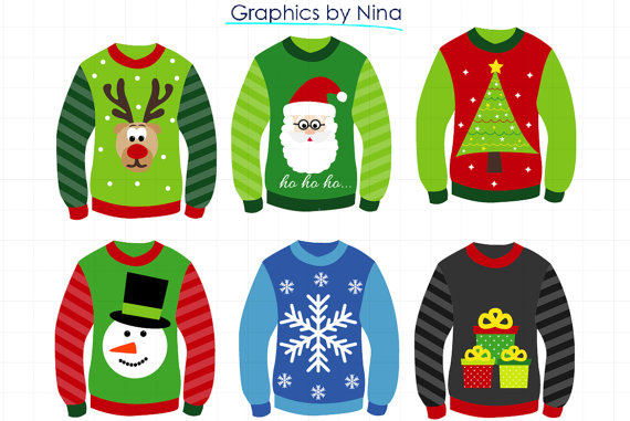 clip art royalty free library Pin on shrinky dink. Ugly sweater clipart free.