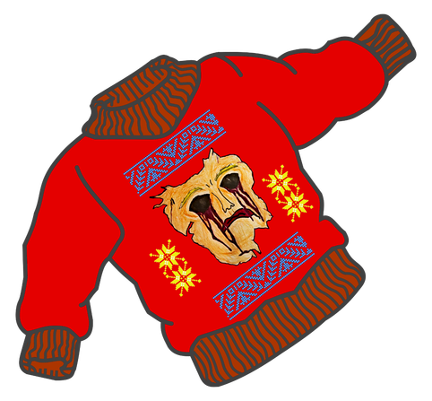 image royalty free download Free ugly sweater clipart. The ugliest slashermonster reallyuglysweater