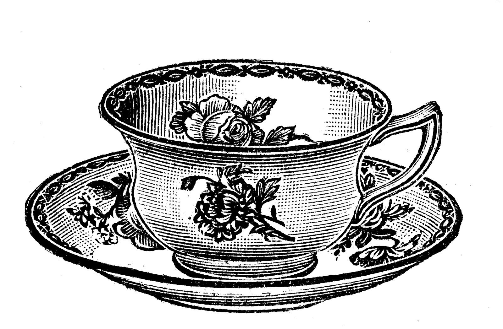 clip freeuse library Free clip art images. Vintage teacup clipart