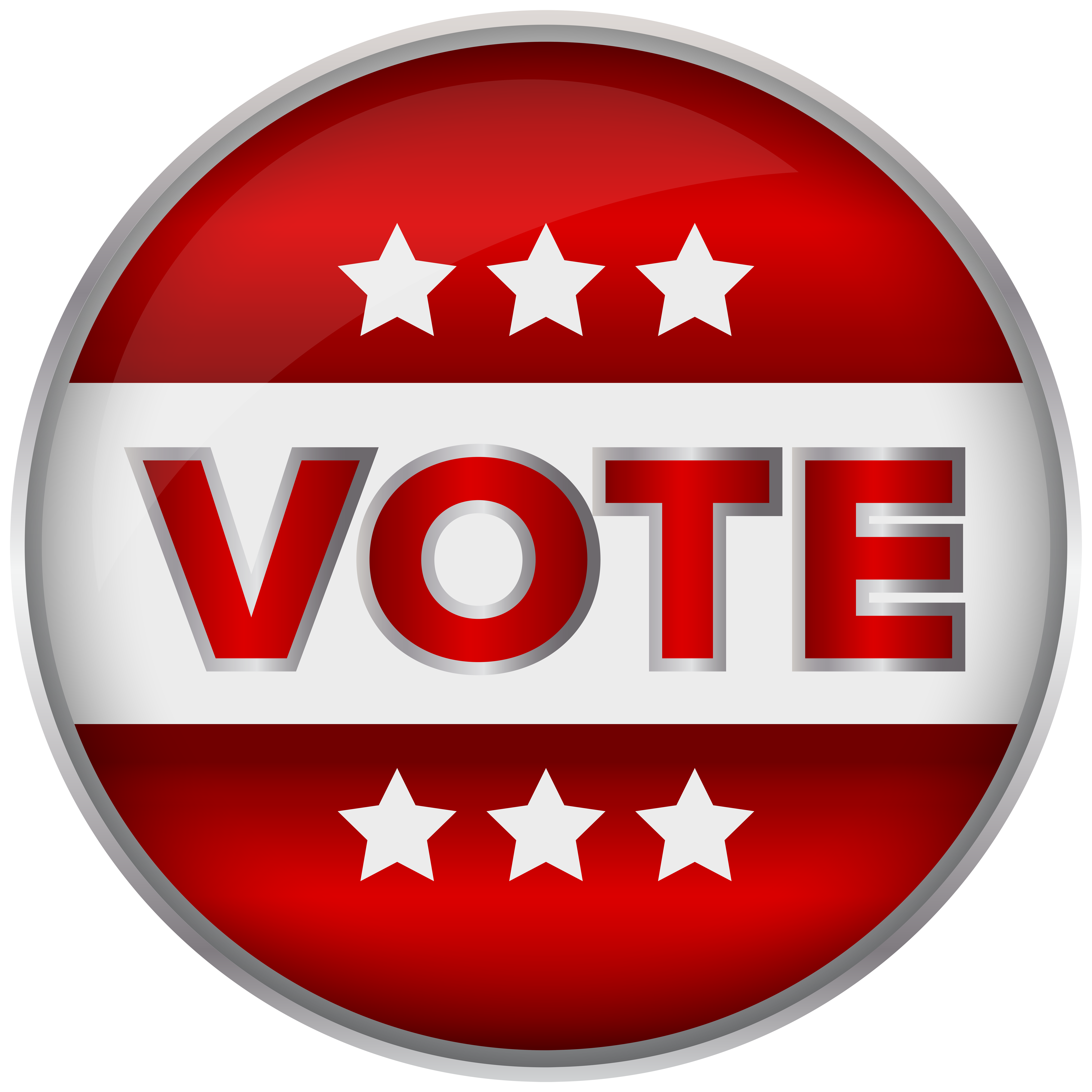 graphic royalty free stock Free vote clipart. Red badge png clip