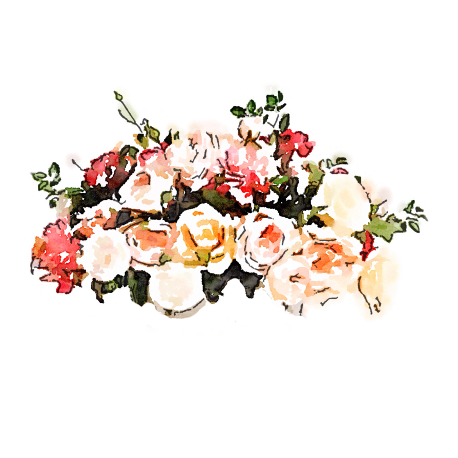 graphic free library transparent watercolours bouquet #106967892