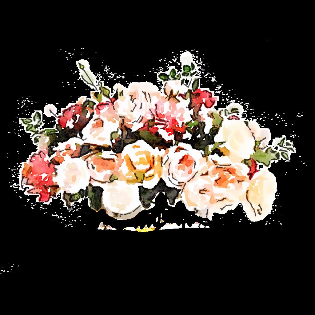vector bouquet transparent watercolour flower #90752245