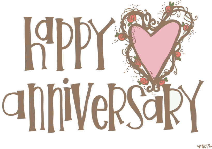 picture free library Clipart Of Wedding Anniversary