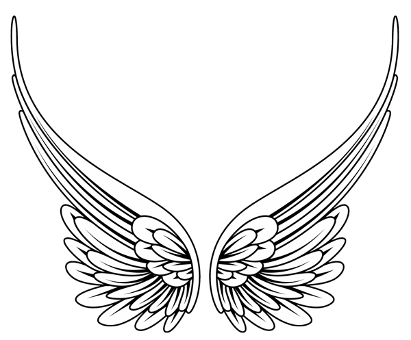 svg library stock Image of angel wing clipart