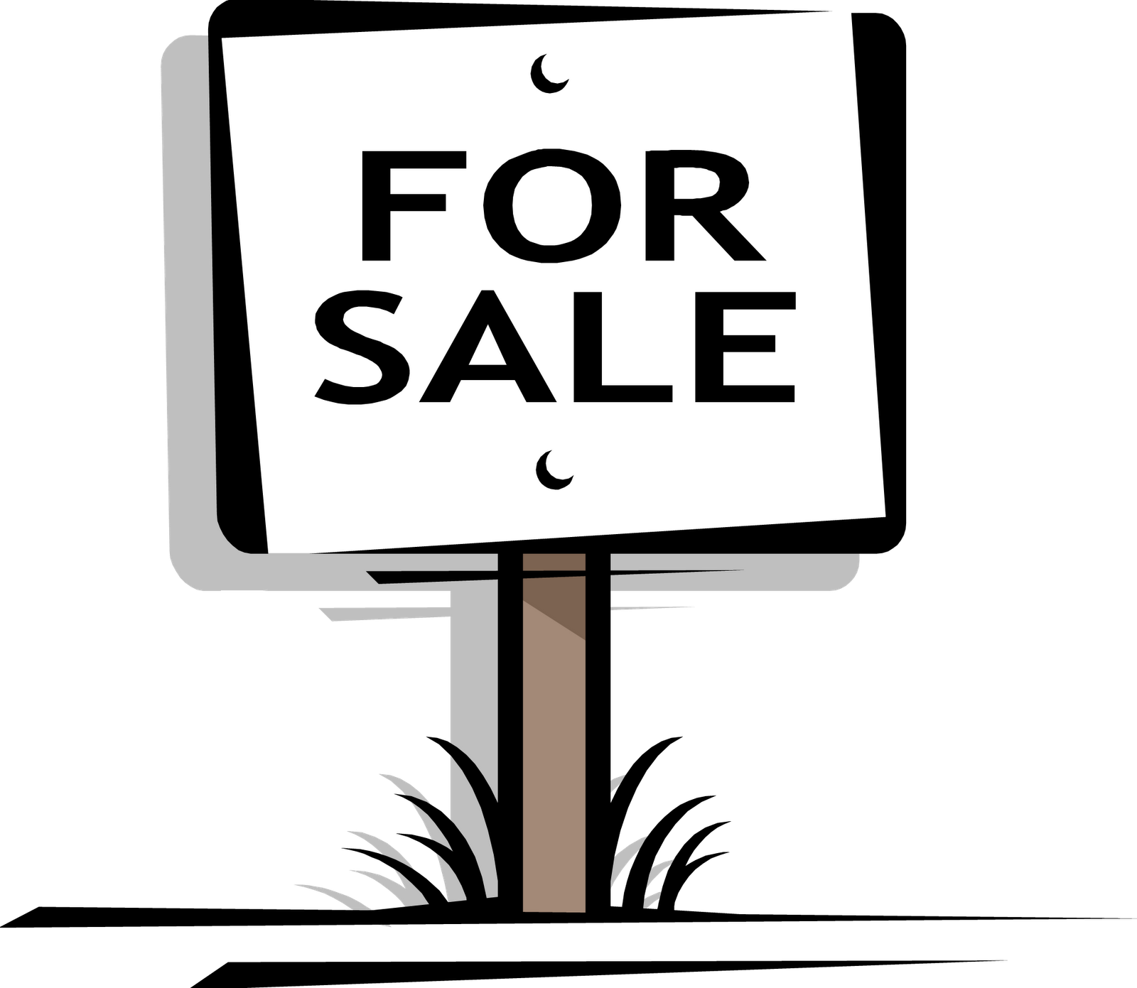 clipart black and white stock garage sale sign clipart #63998359