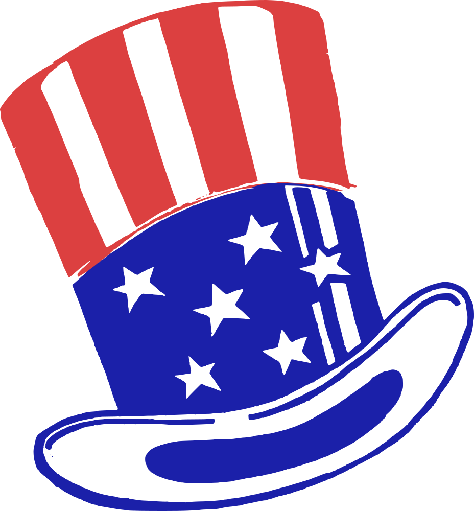 svg freeuse download Onlinelabels clip art hat. Beard clipart uncle sam