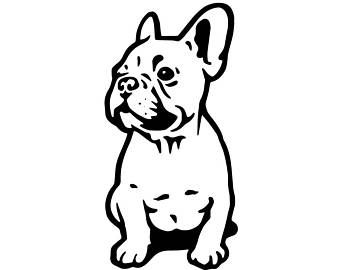 picture free library French bulldog clipart. Small dog pencil and
