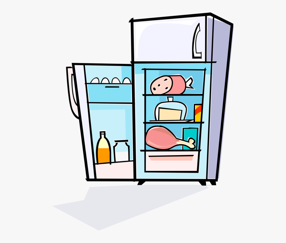 royalty free download Fridge clipart. Full refrigerator clip art.