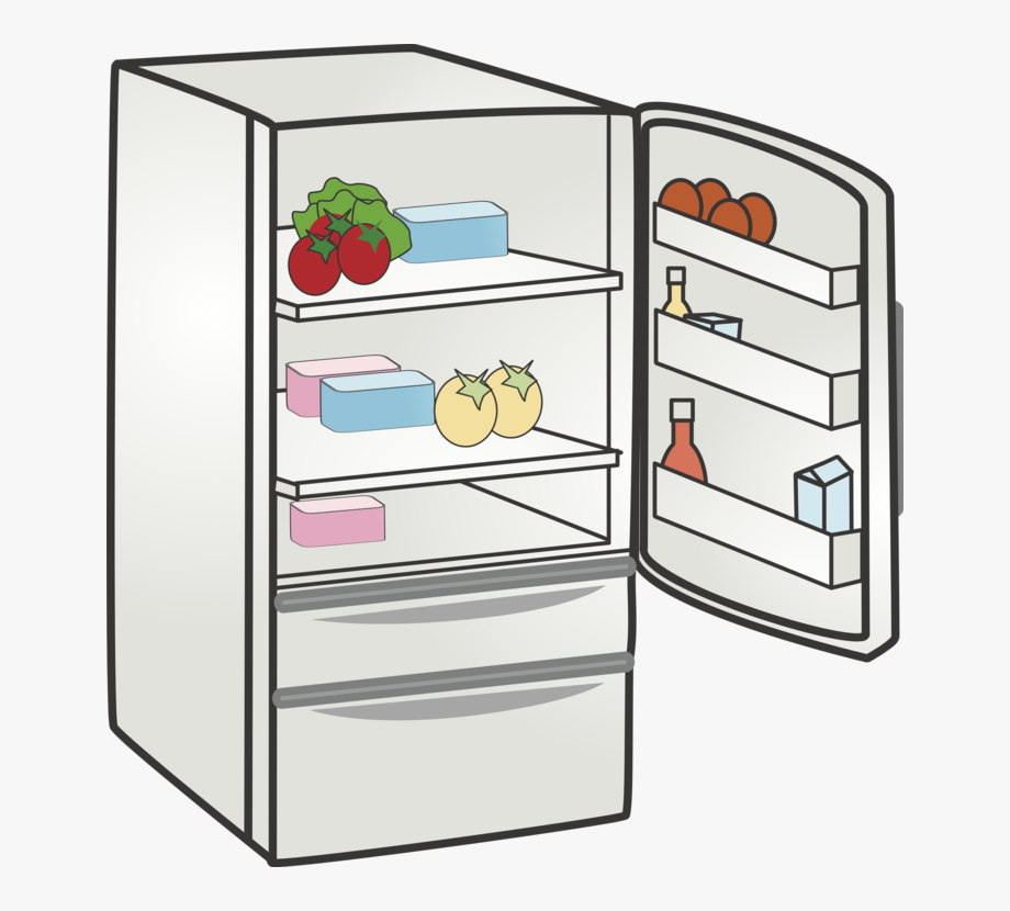 library Refrigerator home appliance kitchen. Fridge clipart.