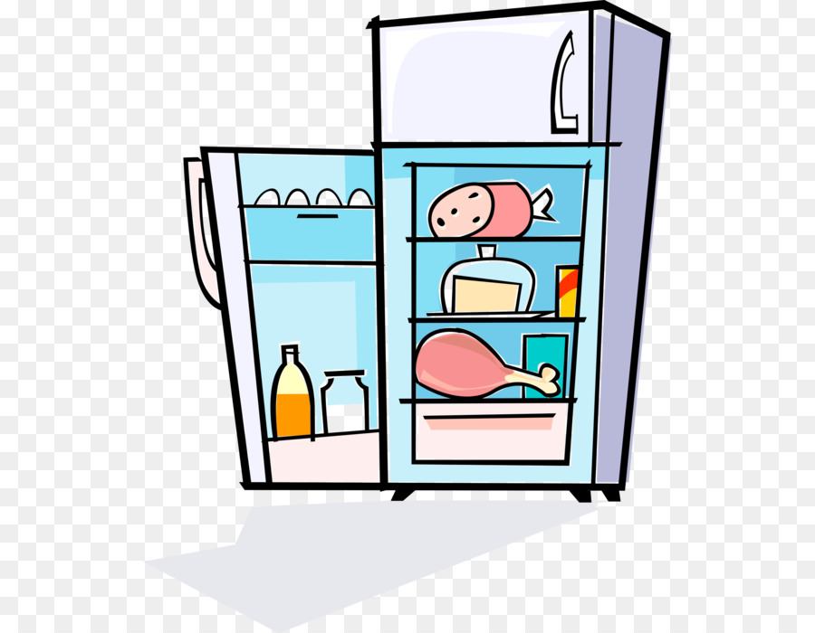 png freeuse stock Fridge clipart. Kitchen cartoon refrigerator transparent.