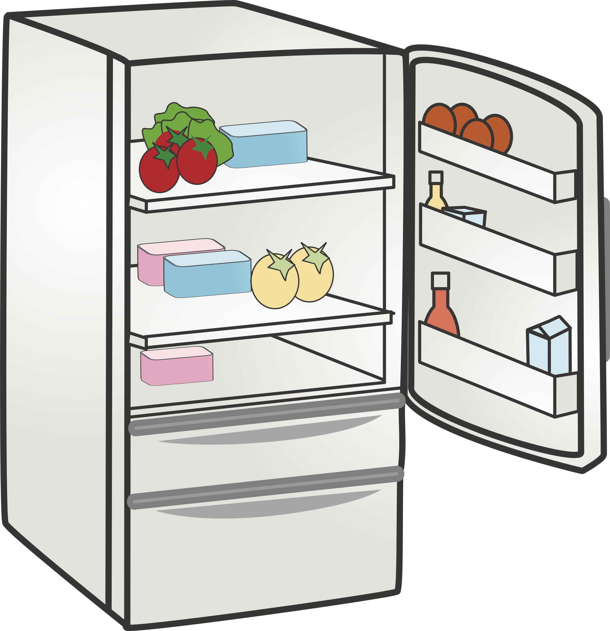 clip black and white download Fridge clipart. Refrigerator big image png.