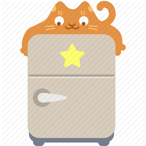 clipart transparent Catcommerce ginger by iconka. Fridge clipart hugging